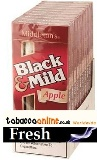 Black & Mild Apple cigars made in USA, 10 x 10 pack, 100 total. Free shipping!