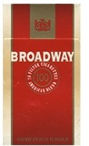 Broadway 100 Box cigarettes. 6 cartons, 60 packs. Free shipping!