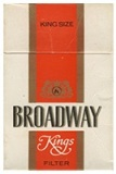 Broadway King Size Box cigarettes. 6 cartons, 60 packs. Free shipping!