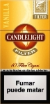 Candlelight Filter Vanilla Mini Cigars. 10 x 10 pack, 100 total.