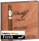 Davidoff Millennium Churchill cigars made in Dominican Republic. Box of 10.