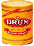 Extra Special Drum Golden Mellow Halfzware Shag Rolling Tobacco made in USA. 6 x 150 g cans.