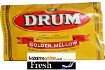 Drum Golden Mellow Halfzware Shag Rolling tobacco made in USA.1152 g in 32 g pouches. Free Shipping!