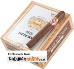H Upmann Reserve Corona Cigars made in Dominican Republic. Box of 20.