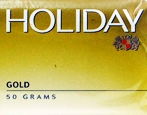 Holiday Gold Ready Rubbed Rolling Tobacco, single 50g pouch made in Australia. Budget stock.