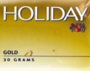 Holiday Gold Ready Rubbed Rolling Tobacco, single 30 g pouch made in Australia. Budget stock.