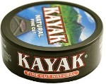 Kayak Fine Cut Natural Chewing Tobacco made in USA, 10 x 5 can roll, 50 of 1.2oz cans, 1700g total.