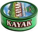 Kayak Long Cut Wintergreen Chewing Tobacco made in USA, 10 x 5 can roll, 50 cans, 1700g total.
