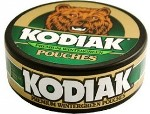 Kodiak Wintergreen Pouches Chewing Tobacco made in USA, 4 x 5 can rolls, 680 g total. Ships free!