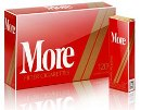 6 cartons of More International 120s Red Box cigarettes made in EU, 60 packs. Free shipping!