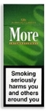 6 cartons of More International 120s Menthol Box cigarettes made in EU, 60 packs. Free shipping!