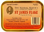 Samuel Gawith St James Flake Pipe Tobacco. 50 g tin. Free shipping!