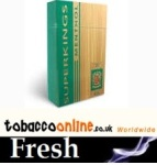 Superkings Kings Menthol Box cigarettes made in UK, 60 packs, 6 cartons. Free shipping!