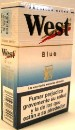 West Blue Box cigarettes from Spain.