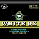 White Ox Dark Cigarette Tobacco made in Holland, 10 x 30 g pouches. Budget stock.