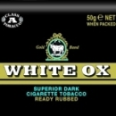 White Ox Dark Cigarette Tobacco made in Holland, 10 x 50 g pouches. Budget stock.