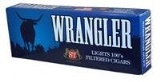Wrangler Blue Filtered Little Cigars made in USA. 4 x cartons of 10 packs of 20. Free shipping!
