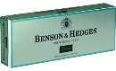 Benson & Hedges Menthol Lights 100 Luxury cigarettes made in USA, 5 cartons, 50 packs. Free shipping