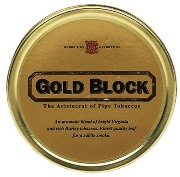 Gold Block Pipe Tobacco made in UK. 50 g tin. Free shipping!