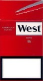 West Red 100 Box cigarettes from Spain.